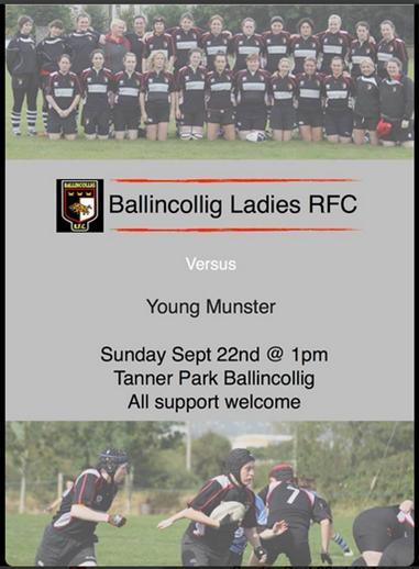 Ballincollig RFC v Young Munster 22-09-2013