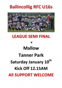 Match Poster U16 Semi