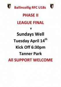 2. Match Poster U18 - April 2015