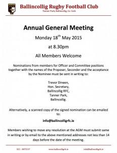 AGM Notice 2015